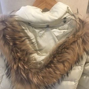MaxMara Winter Coat with real fur hood